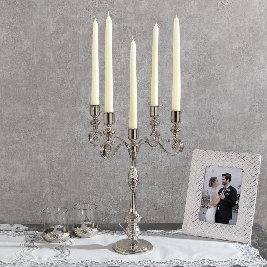 Подсвечник Doreline под старину серебристый на 5 свечей