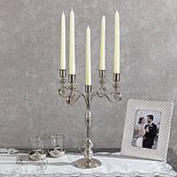 Подсвечник Doreline под старину серебристый на 5 свечей, фото 1