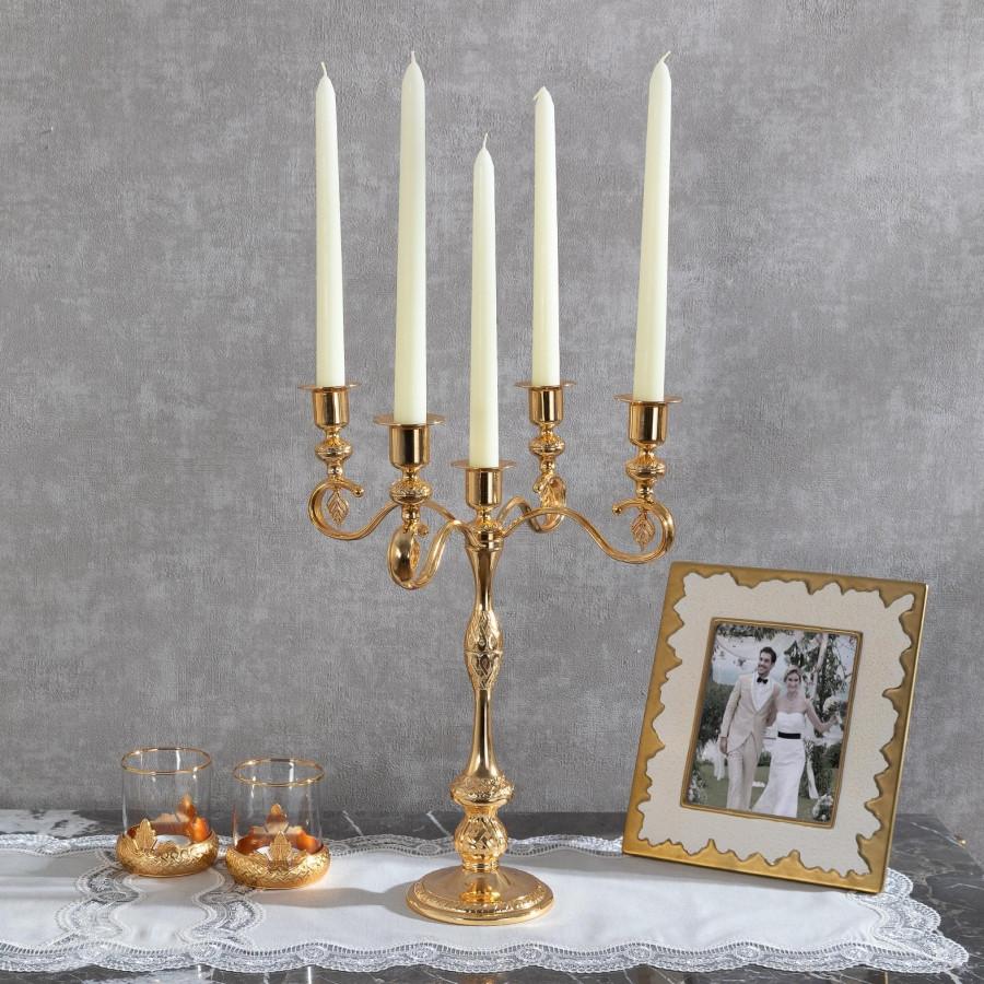 Подсвечник Doreline под старину золотистый на 5 свечей