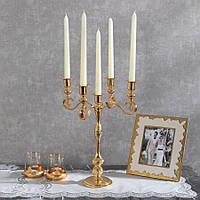 Подсвечник Doreline под старину золотистый на 5 свечей, фото 1