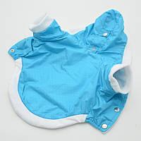 Жилет-курточка для собак Сильвер с капюшоном бирюзовый, фото 1