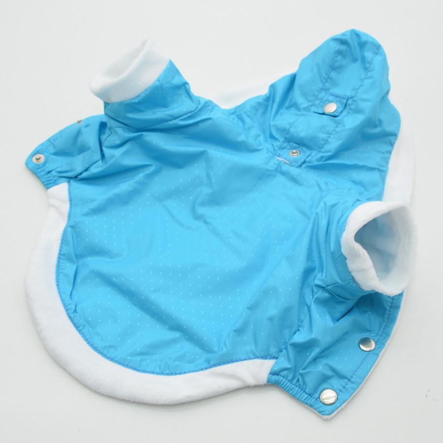 Жилет-курточка для собак Сильвер с капюшоном бирюзовый
