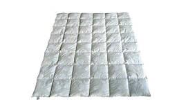 Пуховое одеяло двуспальное, тик, 50% пух 50% мелкое перо(175х215)