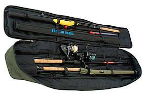 Чехол для удилищ LeRoy Sky Олива 130 см с фиксаторами