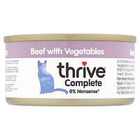 Thrive Complete Beef with Vegetables - полнорационный влажный корм для котов с говядина овощи 75г