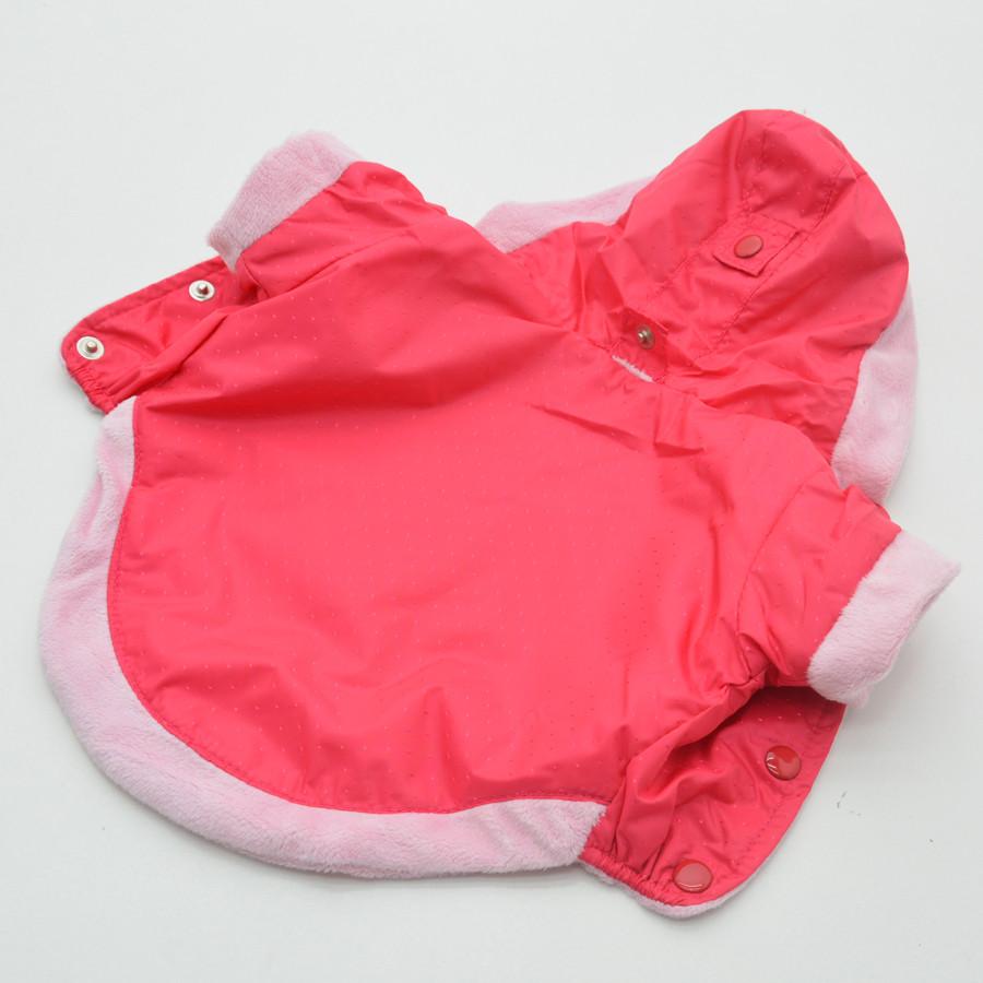 Жилет-курточка для собак Сильвер с капюшоном малиновый