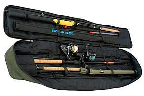 Чехол для удилищ LeRoy Sky Олива 150 см с фиксаторами, фото 2