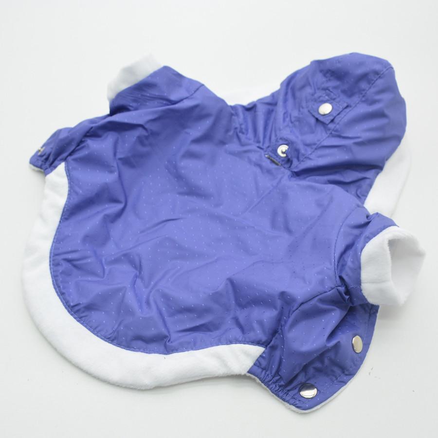 Жилет-курточка для собак Сильвер с капюшоном фиолетовый