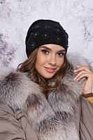Красивая женская шапка с декором в 7ми цветах 4800, фото 1