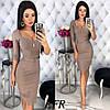 Платье женское приталенное стрейчевое, цвета: чёрный, бордовый , бежевый , хаки, джинс