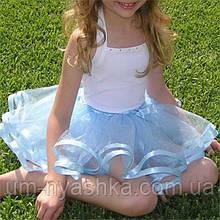 Юбка-пачка пышная юбочка балерины на 2-8 лет МЯТНЫЙ
