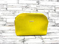 Женский замшевый клатч сумка Zara (желтый), фото 1