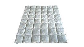 Пуховое одеяло полуторное, тик, 50% пух 50% мелкое перо(155х215)