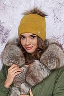 Шикарная женская шапка зимняя с помпоном в 9ти цветах 4905