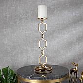 Подсвечник Doreline золотистый на 1 свечу 40 см