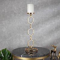 Подсвечник Doreline золотистый на 1 свечу 40 см, фото 1