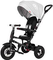 Велосипед триколісний Sun Baby QPlay Rito з ручкою Сірий (3072018075)