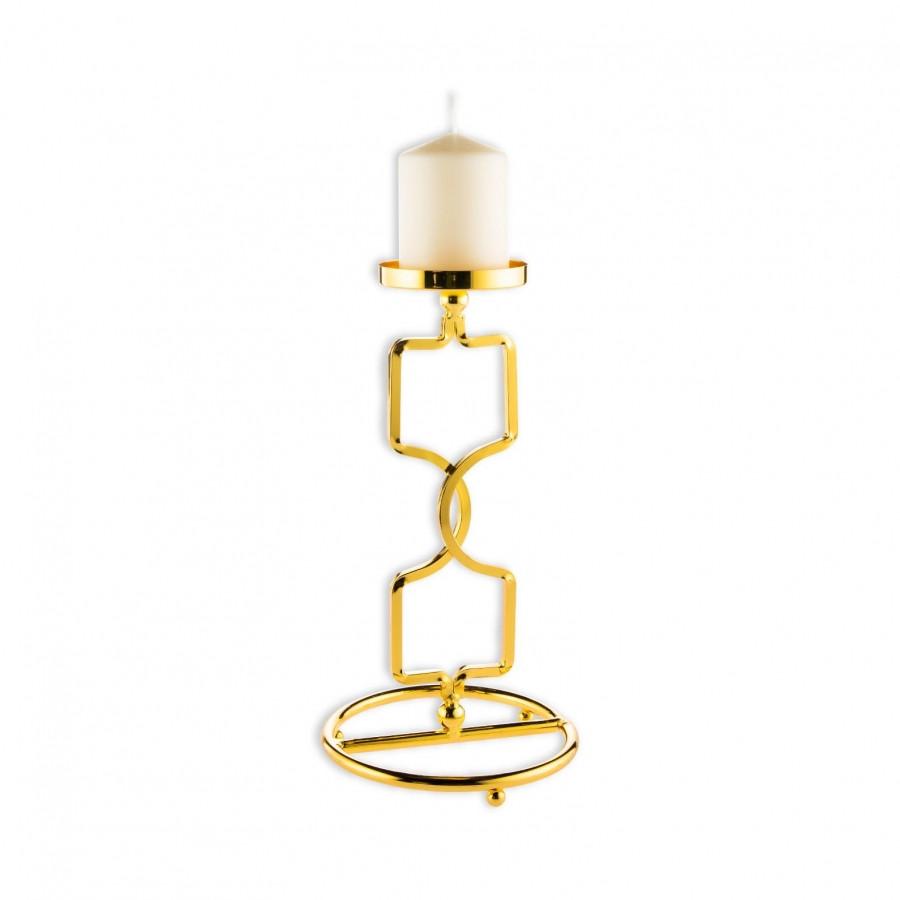 Подсвечник Doreline золотистый на 1 свечу 27 см