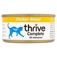 Thrive Complete Chicken Breast for Cats - Трайв Полнорац Консерв Влажный Корм для Кошек Курица 75г