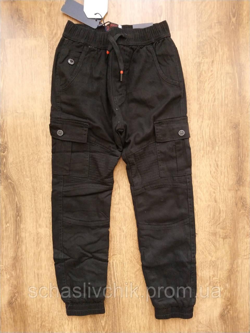 Джинсы брюки для мальчиков на флисе с Венгрии оптом , размер 116-146, фирма Grace