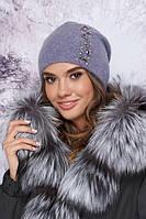 Красивая женская шапка с декором в 15ти цветах 4901