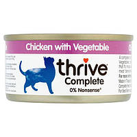 Thrive Complete Chicken with Vegetables - полнорационный корм для котов курица овощи 75г