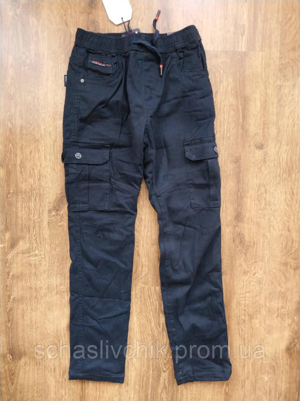 Джинсы брюки для мальчиков на флисе с Венгрии оптом , размер 134-164, фирма Grace