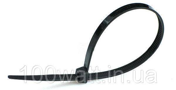Стяжка хомут пластикавая 3х100 (100шт.) черная GAV 205BL