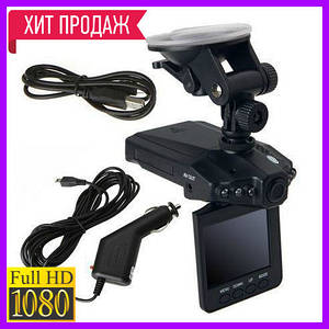 Автомобильный видеорегистратор HD DVR H198, регистратор в авто/ ТОП Продаж