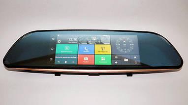 Видеорегистратор-зеркало заднего вида DVR D35 сенсор, автомобильный регистратор с большим экраном, фото 2