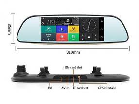 Видеорегистратор-зеркало заднего вида DVR D35 сенсор, автомобильный регистратор с большим экраном, фото 3