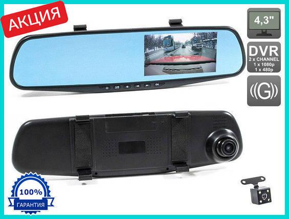 Видеорегистратор-зеркало заднего вида Vehicle Blackbox DVR Full HD / регистратор в авто, фото 2