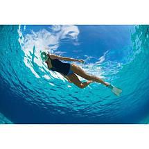 Маска на обличчя Tribord Easybreath для снорклінга, підводного плавання, Триборт Изибриз. репліка, синій колір, фото 3