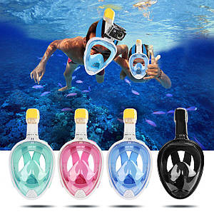 Маска на все лицо Tribord Easybreath для снорклинга, подводного плавания, Триборт Изибриз, реплика. L/XL