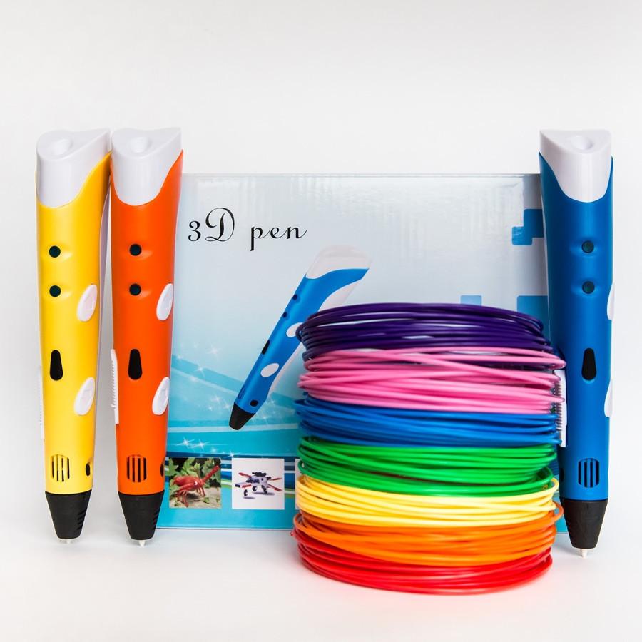 3D Ручка Originalsize 3d pen с дисплеем + ADS пластик 20 цветов. Большая упаковка