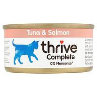 Thrive Complete Tuna Salmon Cats - Трайв Полнорац Консервир Влажный Корм для Кошек Тунец Лосось 75г