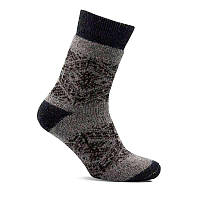 Носки шерстяные мужские ЛЕО Орнамент серый