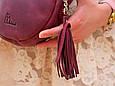 """Сумка жіноча кругла шкіряна через плече """"Fantasy"""", фото 6"""