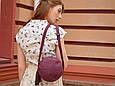"""Сумка женская круглая кожаная через плечо """"Fantasy"""", фото 5"""