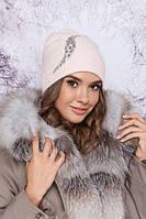 Красивая женская шапка с декором в 15ти цветах 4900