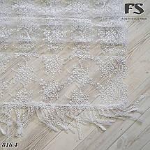 Свадебный шарф Лира белый, фото 2