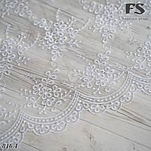 Свадебный шарф Лира белый, фото 3