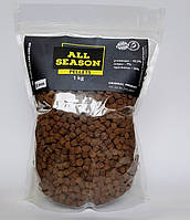 Пеллетс прикормочный ALL SEASON 8 mm 8 мм, 1 кг