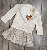 Детский нарядный костюм для девочки (батник.юбка.пиджак) Baby Rose размер.98 маломерный (на 1,5-2 года) Турция