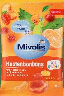 Фруктовые леденцы без сахара для детей Mivolis Hustenbonbons für Kinder, 75 гр.(27шт), фото 1