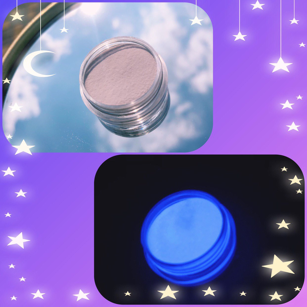 Люминесцентный пигмент светло-фиолетовый