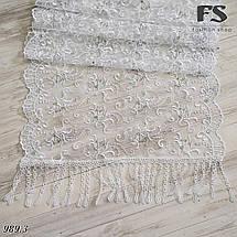 Свадебный шарф Камила (стразы белый), фото 2