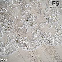 Свадебный шарф Камила (стразы белый), фото 3