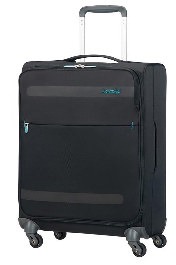 Маленький текстильный чемоданы на 4-х колесах American Tourister Herolite