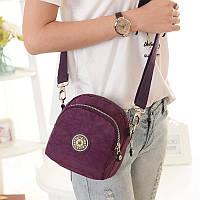 Сумка на пояс или на плечо Jinquaer фиолетовая 02013/04